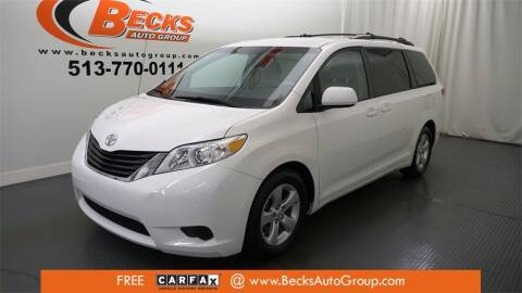 2013 Toyota Sienna for sale at Becks Auto Group in Mason OH