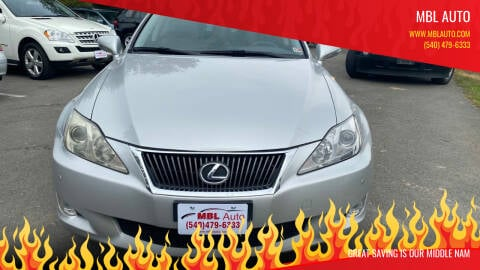 2008 Lexus IS 250 for sale at MBL Auto in Fredericksburg VA