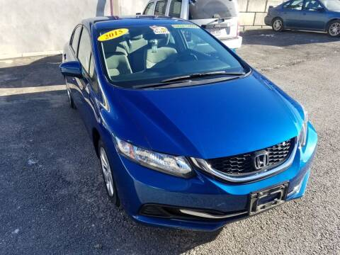 2015 Honda Civic for sale at Fortier's Auto Sales & Svc in Fall River MA