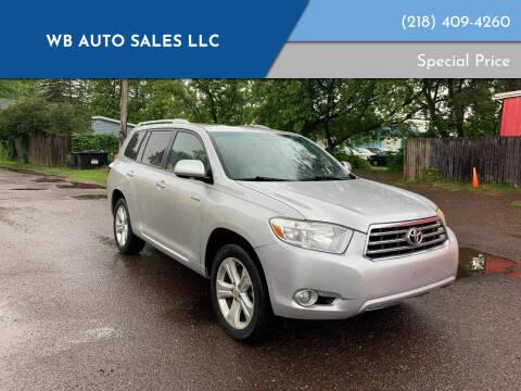 2009 Toyota Highlander for sale at WB Auto Sales LLC in Barnum MN