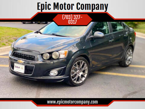 2015 Chevrolet Sonic for sale at Epic Motor Company in Chantilly VA