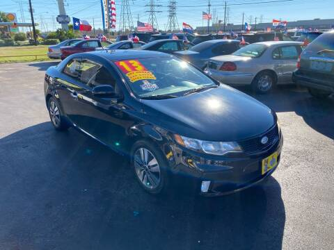 2013 Kia Forte Koup for sale at Texas 1 Auto Finance in Kemah TX