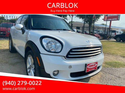 2014 MINI Countryman for sale at CARBLOK in Lewisville TX