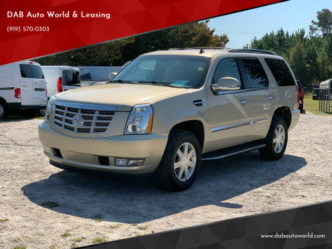 2011 Cadillac Escalade for sale at DAB Auto World & Leasing in Wake Forest NC