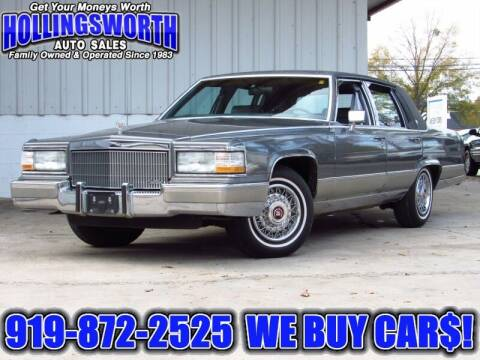 1992 Cadillac Brougham for sale at Hollingsworth Auto Sales in Raleigh NC