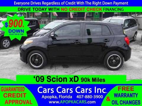 2009 Scion xD for sale at CARS CARS CARS INC in Apopka FL