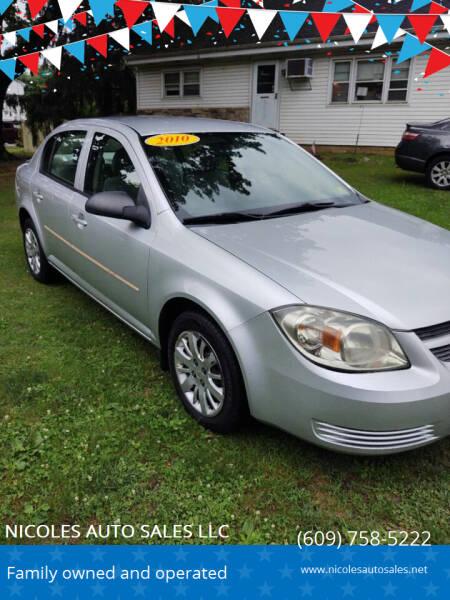 2010 Chevrolet Cobalt for sale at NICOLES AUTO SALES LLC in Cream Ridge NJ