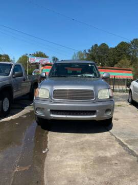 2002 Toyota Sequoia for sale at LAKE CITY AUTO SALES in Forest Park GA