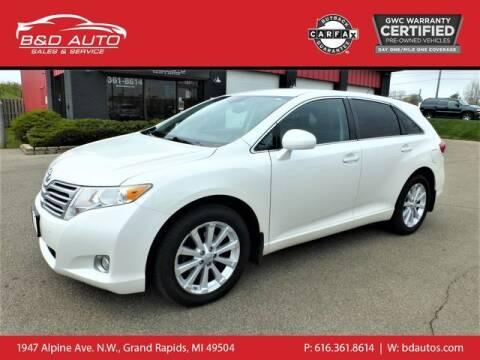 2011 Toyota Venza for sale at B&D Auto Sales Inc in Grand Rapids MI