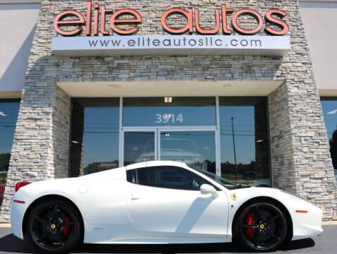 2012 Ferrari 458 Spider for sale at Elite Autos LLC in Jonesboro AR