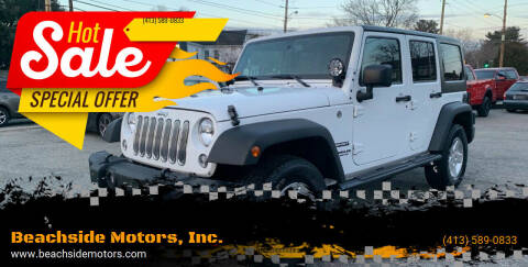 2016 Jeep Wrangler Unlimited for sale at Beachside Motors, Inc. in Ludlow MA
