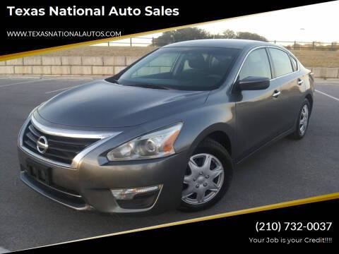 2015 Nissan Altima for sale at Texas National Auto Sales in San Antonio TX