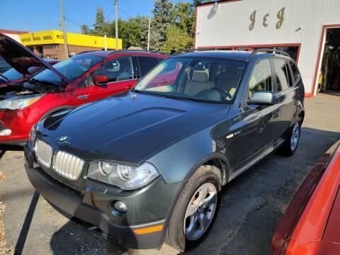 2007 BMW X3 for sale at J & J Used Cars inc in Wayne MI
