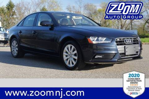 2014 Audi A4 for sale at Zoom Auto Group in Parsippany NJ
