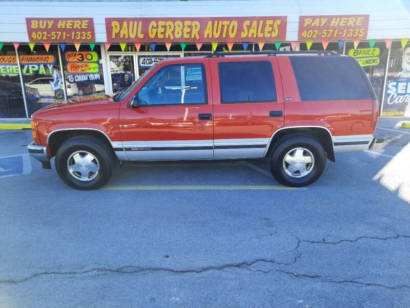 1997 GMC Yukon for sale at Paul Gerber Auto Sales in Omaha NE