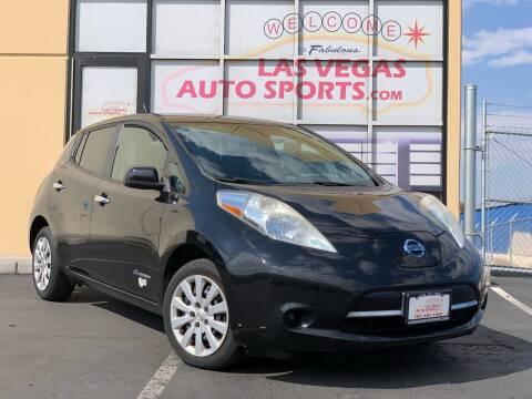 2013 Nissan LEAF for sale at Las Vegas Auto Sports in Las Vegas NV