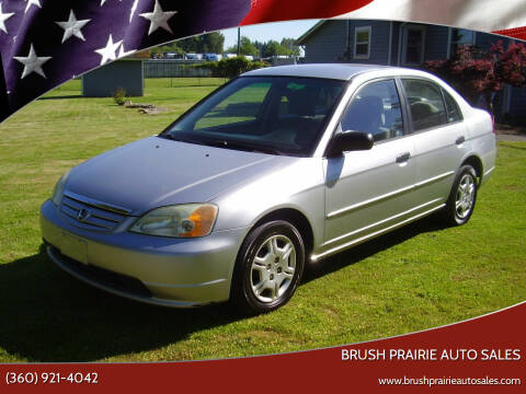2001 Honda Civic for sale at Brush Prairie Auto Sales in Battle Ground WA