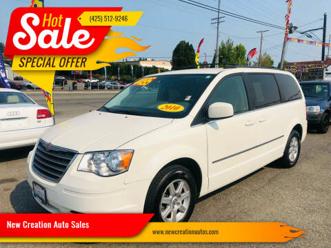 2010 Chrysler Town and Country for sale at New Creation Auto Sales in Everett WA