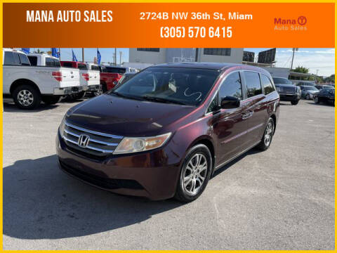 2012 Honda Odyssey for sale at MANA AUTO SALES in Miami FL