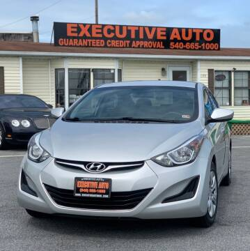 2016 Hyundai Elantra for sale at Executive Auto in Winchester VA