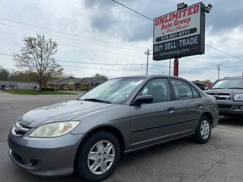 2005 Honda Civic for sale at Unlimited Auto Group in West Chester OH