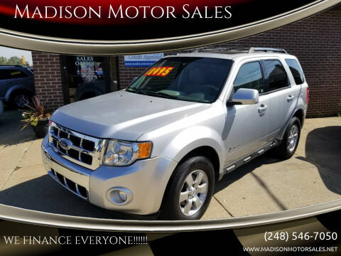 2010 Ford Escape Hybrid for sale at Madison Motor Sales in Madison Heights MI