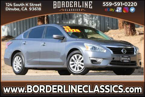 2015 Nissan Altima for sale at Borderline Classics in Dinuba CA