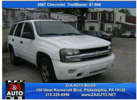 2007 Chevrolet TrailBlazer for sale at Z & A Auto Sales in Philadelphia PA