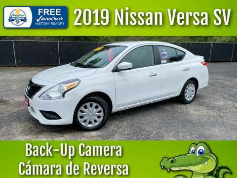 2019 Nissan Versa for sale at LIQUIDATORS in Houston TX