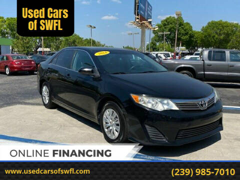2014 Toyota Camry for sale at Used Cars of SWFL in Fort Myers FL