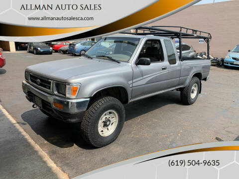 1994 Toyota Pickup for sale at ALLMAN AUTO SALES in San Diego CA