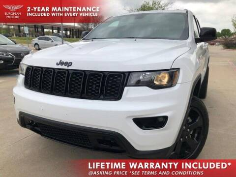2018 Jeep Grand Cherokee for sale at European Motors Inc in Plano TX