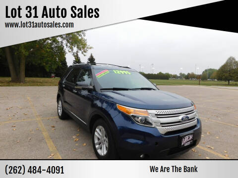 2012 Ford Explorer for sale at Lot 31 Auto Sales in Kenosha WI