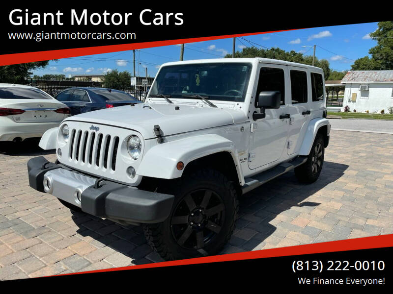 2015 Jeep Wrangler Unlimited for sale at Giant Motor Cars in Tampa FL