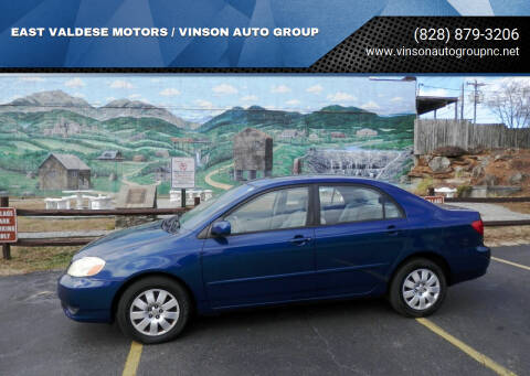 2004 Toyota Corolla for sale at EAST VALDESE MOTORS / VINSON AUTO GROUP in Valdese NC