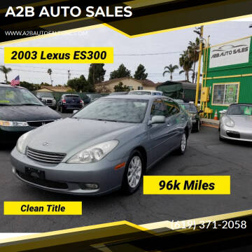 2003 Lexus ES 300 for sale at A2B AUTO SALES in Chula Vista CA