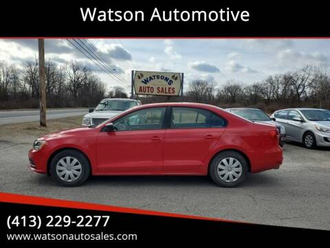 2015 Volkswagen Jetta for sale at Watson Automotive in Sheffield MA