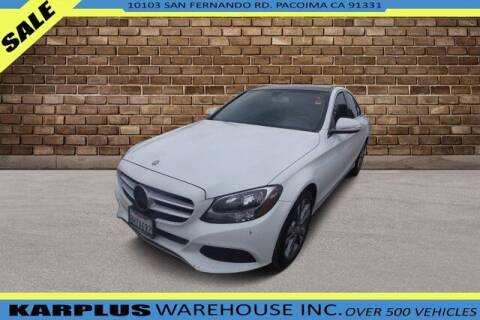 2015 Mercedes-Benz C-Class for sale at Karplus Warehouse in Pacoima CA