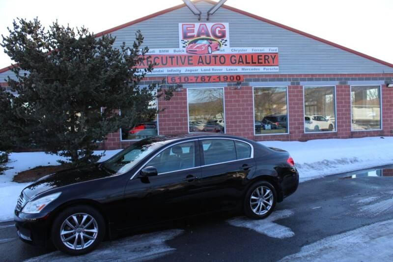 2008 Infiniti G35 for sale at EXECUTIVE AUTO GALLERY INC in Walnutport PA