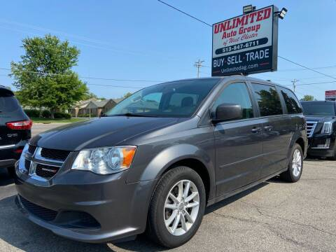 2016 Dodge Grand Caravan for sale at Unlimited Auto Group in West Chester OH