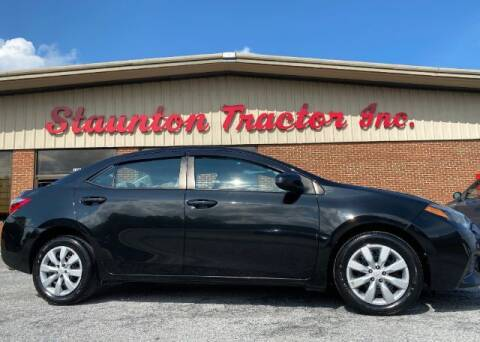 2015 Toyota Corolla for sale at STAUNTON TRACTOR INC in Staunton VA