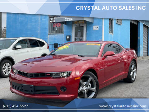 2014 Chevrolet Camaro for sale at Crystal Auto Sales Inc in Nashville TN