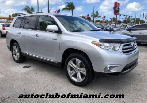 2013 Toyota Highlander for sale at AUTO CLUB OF MIAMI, INC in Miami FL