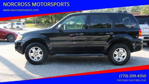 2007 Ford Escape for sale at NORCROSS MOTORSPORTS in Norcross GA