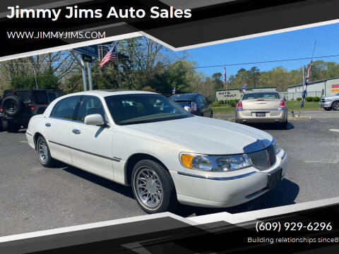 2002 Lincoln Town Car for sale at Jimmy Jims Auto Sales in Tabernacle NJ