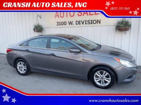 2011 Hyundai Sonata for sale at CRANSH AUTO SALES, INC in Arlington TX