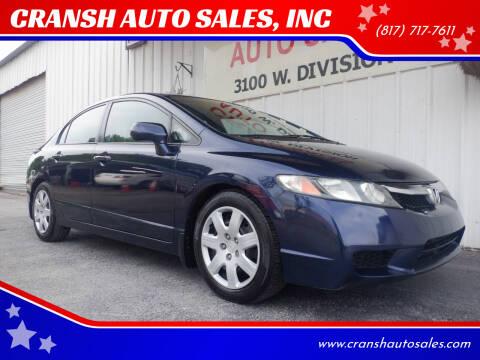 2011 Honda Civic for sale at CRANSH AUTO SALES, INC in Arlington TX