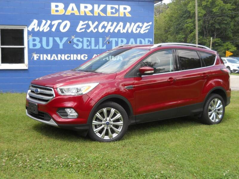 2017 Ford Escape for sale at BARKER AUTO EXCHANGE in Spencer IN