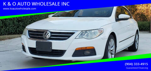 2010 Volkswagen CC for sale at K & O AUTO WHOLESALE INC in Jacksonville FL