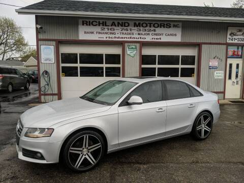 2009 Audi A4 for sale at Richland Motors in Cleveland OH